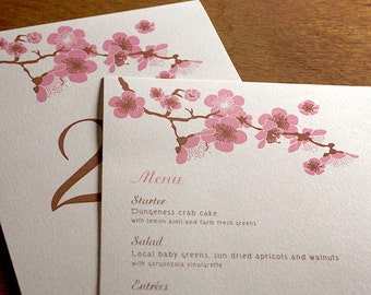 Hana Menu, Table Marker & Place Card Set