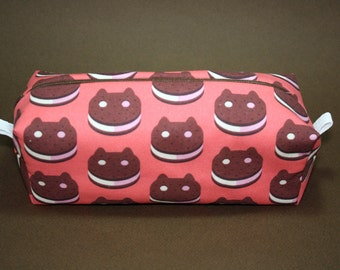 Boxy Makeup Bag - Cookie Cat from Steven Universe Zipper - Pencil Pouch