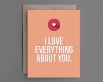 Funny Love Card. For Her, Woman, Girlfriend, Wife, Lesbian. Naughty