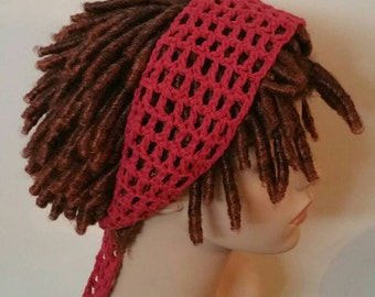 Cotton Country Red Dread Headband