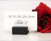Place Card Holder + Black place card holders - Set of 100