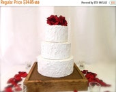 Wood Cake Stand + Rustic Chic wedding cake stand 16 x 16 x 2.5