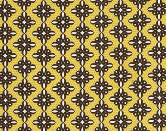 Birds and Blooms Spiro Brown Benatex - Cotton Quilting Fabric  - fat 1/4 remnant