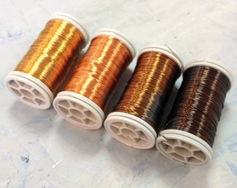 Artistic Color wire, Wire Crochet Supply , Wire for Wire Crochet , Copper wire - Earth