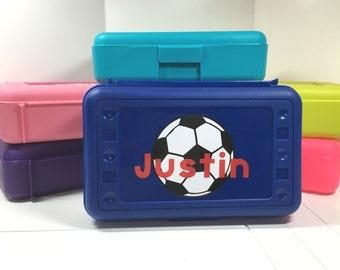 Personalized soccer Pencil Box