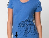 Ladies graphic tee, My Star Wars AT-AT Pet, star wars women's t-shirt, ladies top, funny geek shirt, gift for college student, gift for mom