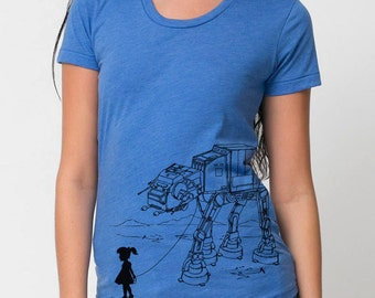 My Star Wars AT-AT Pet - American Apparel Womens T Shirt ( Star Wars t shirt )