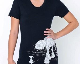 My Star Wars AT-AT Pet - American Apparel Womens  t shirt ( Star Wars tshirt )