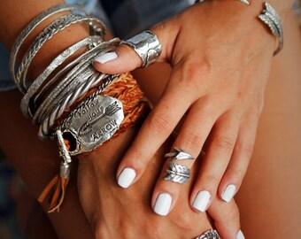 Midi Boho Ring, Arrow Ring, Arrow Jewelry, Arrow Midi Ring, Arrow Knuckle Ring Knuckle Midi Ring Sterling Silver Midi Ring, Boho Midi Rings