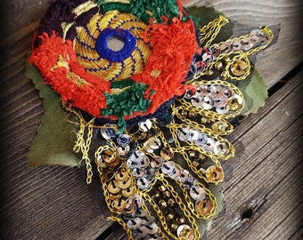Tribaret for Magickal Creatures- ATS Tribal Fusion Boho Belly Dance Hair Clip