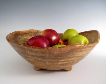 Large Oak Burl Wood Turned Bowl - Artistic Wooden Bowl- Lathe Turned Wood Bowl - Wood Turning - Christmas Gift - Men or Women -