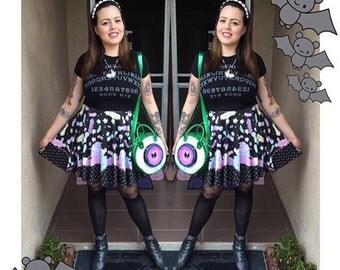 Creepy cupcake skirt black version, Pastel Goth Skirt, Fairy Kei Skirt, Kawaii Skirt