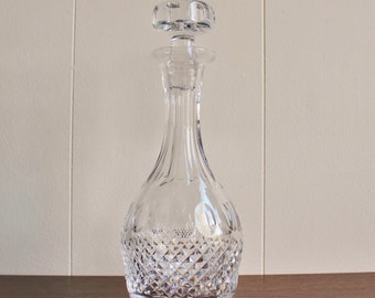 Vintage leaded crystal decanter with finial topper