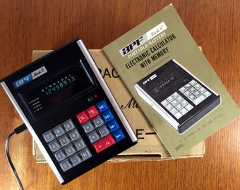 APF Mark VI Vintage Portable Electronic Calculator 1973 - Original Box