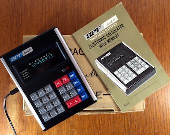 APF Mark VI Vintage Portable Electronic Calculator 1973 - Original Box
