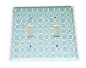 Double Switchplate Light Switch Cover in  Royal Family (256D)