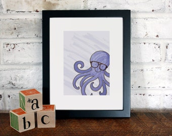 Animals in Glasses: 8x10 Archival Art Print