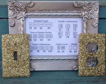 Custom Switchplate Gold Glitter
