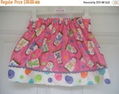 ON SALE Ready to Ship  Custom Boutique RTS Smores Snowman Pink School Girl Pencil Skirt 2 3 4 Ready to Ship