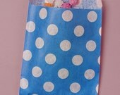 Valentines Day Sale 25 Pack 5 X 7 Inch Color and White Polka Dot Flat Paper Food Safe Bags