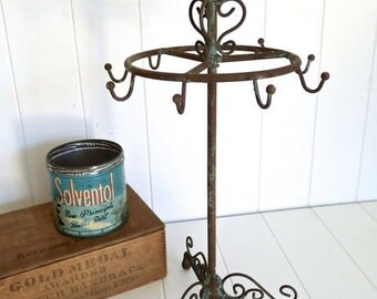 Halloween Stock Up Sale CLEARANCE Sale 1 New Bird Jewelry Stand Tree with multiple hooks and Patina Finish