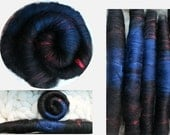 The Tarot Series: The Devil, Your Choice of Batts or Rolag-Style Punis for Spinning, Felting