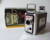 Vintage Kodak 8mm Brownie Movie Camera, Original Box with Film