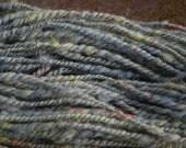 Chunky Grey Hand Dyed Hand Spun Wensleydale Cross Yarn