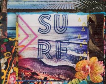 NEW, SURF SHACK, Matted Print, 8x10, 11x14, 16x20, Print, Encinitas, California, Surfing, Beacons, Seaside, Ocean Art, Wall Art, modern art