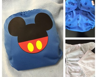 Mouse Ears Cloth Diaper - Pocket Cloth Diaper
