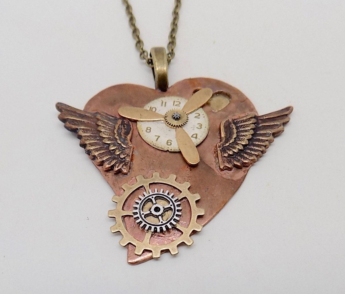 Choker Necklace Etsy: Steampunk Jewelry. Steampunk Necklace Pendant By Slotzkin