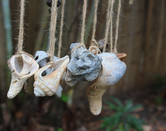 VINTAGE shells, ornaments, sea treasures, antique shells, mobile supplies, wind chime supplies