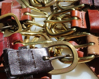 Belt Supplies -  - 25 brass buckles - recycled belt parts, re-purpose for craft projects, cuffs, handbags,