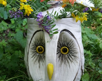 Barn Owl Coffee Pot