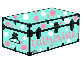 Personalized Camp Trunk Polka Dot Package -DOTS ONLY - Camping Sticker - Camp Trunk Sticker - Camp Trunk Name  Polka Dots