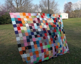 Vintage Quilt Top Farmhouse Bedding Primitive Bedspread Folk Art Quilt Antique French Country Rustic Wedding Decorations Tablecloth 76x82