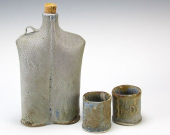 Ceramic Hip Flask and Shots