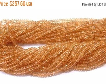 50% Off Valentine day Buy Wholesale Lot - 10x14 -140 Inches Finest Quality Citrine Micro Faceted Rondelles Size-- 3.5 - 4mm approx.