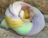 Handpainted, Kettled dyed Lace weight yarn - Monet - 100 percent Superwash Merino  - 4 ounces