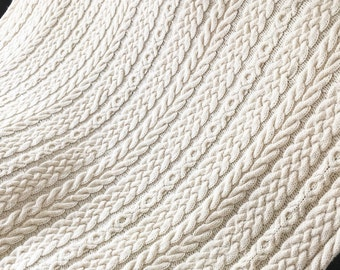 Irish Wedding Aran Afghan, Knit Afghan, Aran Afghan, Knitting Pattern, Irish Knitting Pattern