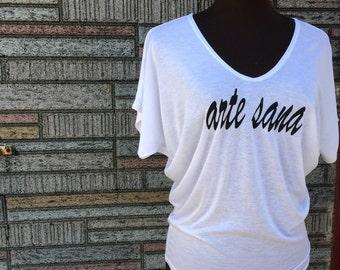 Art Heals, Arte Sana, Artesana, Artisan, T-shirt, SMALL, White