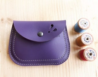 Handmade, Leather clutch Large Purse, MERRY 3064 violet