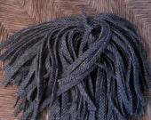 100 Mill Dyed Wool Rug Hooking Strips Lt. & Medium Pewter Gray Herringbone