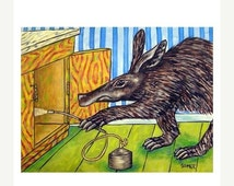 ON SALE Aardvark Pest Control Art Print