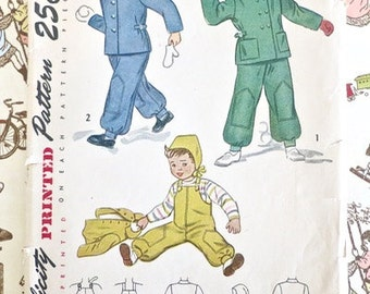 Vintage 1940s Child's Snowsuit Pattern - Simplicity 2630