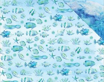 Sea Life Seaside Double Sided Cardstock Reminisce
