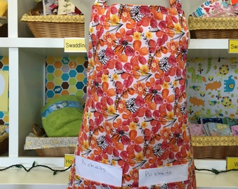 aprons for women - womens aprons - warm watercolor flowers