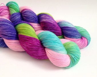 ELIA - Hand Dyed Yarn - Sparkle Sock Yarn Fingering - Ready to Ship - Vivid Yarn Studio