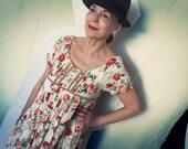 Vintage Flower Hippy Dress