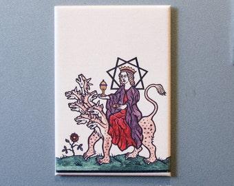 Babalon riding the Beast art magnet
